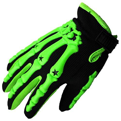 Motorrad Handschuhe,Ghost Bike, Taschendieb Motorrad, Outdoor Sport Parkour Schutzhandschuhe - Green_L