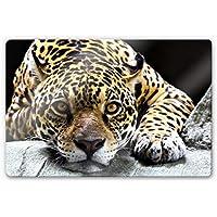 Cristal de Jaguar Depredadores Animales manchas gato animales de Wall Art, Marrón, 80x60 cm