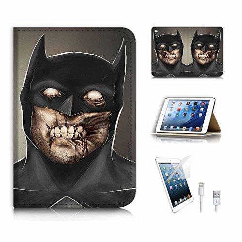 iPad Mini Generation 4Flip Wallet Schutzhülle & Displayschutzfolie & Ladekabel Bundle. a6689Zombie ()