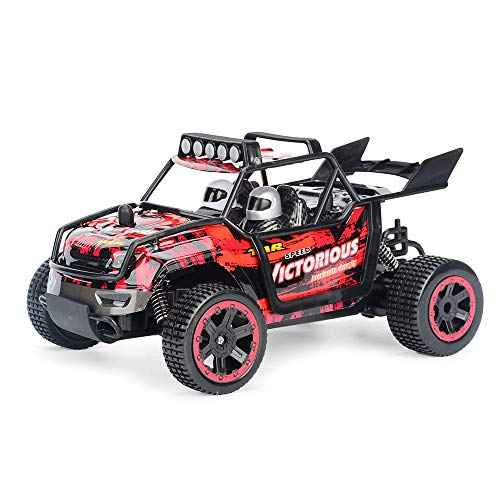 DingLong 30km/h Ferngesteuertes Auto,1:20 Scale RC Car Off Road Vehicle 2.4G Radio Remote Control Car Racing (Rot) - Rc 1 Auto 15 Scale