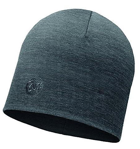 Buff Unisex Heavyweight Merino Wool Regular Hat Mütze, Solid Grey, One Size - Solid Grigio Lana