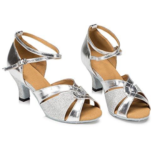 Minitoo Damen Tanzschuhe Silber - 2