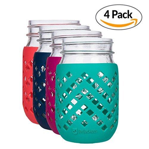 jarjackets Silikon Mason Jar Sleeve–passt Klauenhammer, (1Pint) regular-mouth Gläser Reg Mouth Pint mehrfarbig