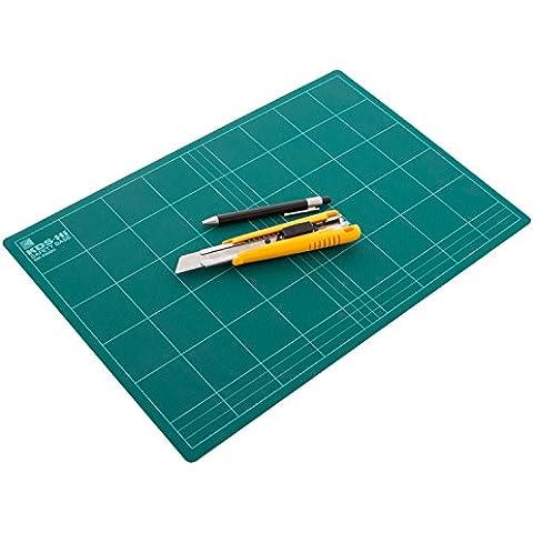 KDS SM-2000H - Base de corte con plantilla (Tabla para medir y cortar) - 450 x 300 x 3 mm - [ Tipo: Duro ] - Color: Verde (Cutting Board)