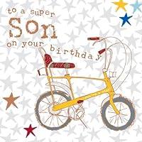 Mano figlio Bicicletta compleanno scheda