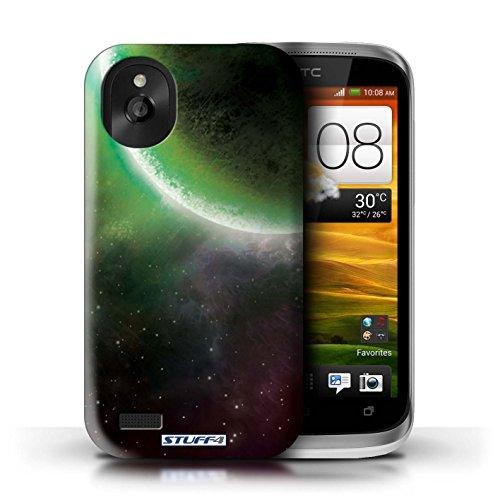Kobalt® Imprimé Etui / Coque pour HTC Desire X / Nébuleuse Verte conception / Série Cosmos Éclipse Vert