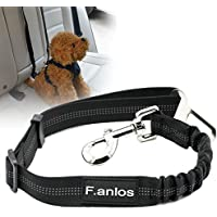 F.anlos Hunde-Sicherheitsgurt, Hunde Sicherheitsgurt für Auto, Hunde-Anschnallgurt fürs Auto mit elastischer Rückdämpfung, mit elastischer Ruckdämpfung für maximalen Komfort und höchste Sicherheit
