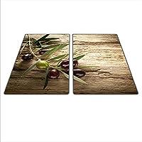 Herdschutz aus Glas Erdbeere motiv Herdabdeckplatte 59x52 für Ceran//Induktion