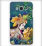 PrintVisa Radha Krishna Pure Love Designer Hard Back Case for Samsung Galaxy J2(6) - Multicolour