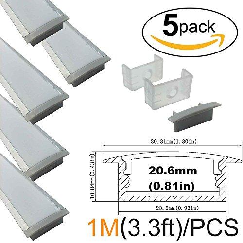 lightingwill-5-pack-33ft-1m-10x30mm-silver-u-shape-internal-width-20mm-led-aluminum-channel-system-w