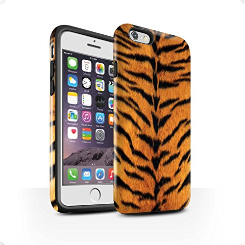 Coque Brillant Robuste Antichoc de STUFF4 / Coque pour Apple iPhone 8 / Zèbre Design / Motif Fourrure Animale Collection Tigre