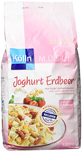 Kölln Müsli Joghurt Erdbeer, 1er Pack (1 x 1.7 kg)