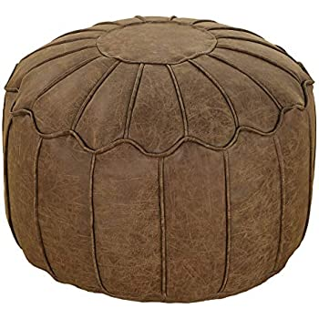 Tremendous Better Dreams Brown Faux Leather Moroccan Bean Bag Footstool Unemploymentrelief Wooden Chair Designs For Living Room Unemploymentrelieforg