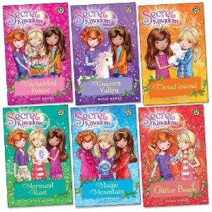 Secret Kingdom Series 1 Collection Set By Rosie Banks 6 Books Set (Enchanted Palace, Unicorn Valley, Cloud Island, Mermaid Reef, Magic Mountain, Glitter Beach)