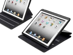 """KAVAJ Tasche Case """"Hamburg"""" für Apple iPad 2, schwarz, mit Standfunktion (5 verschiedene Betrachtungswinkel)"""