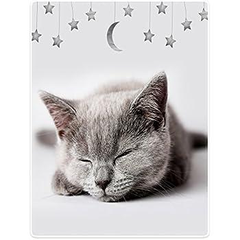 YISUMEI Decke 80 x 120 cm Kuscheldecken Sanft Flanell Weich Fleecedecke Bettüberwurf Mond und Sterne Heimtextilien, Bad- & Bettwaren