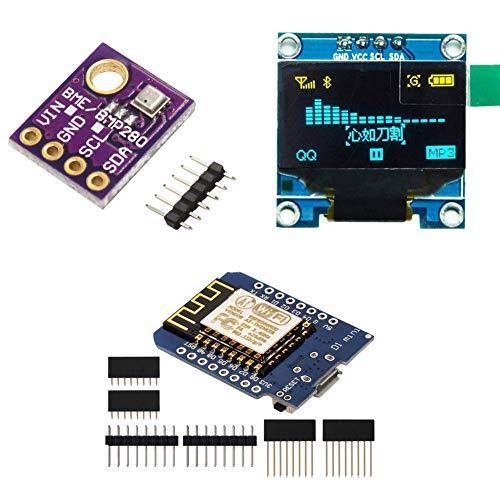KeeYees BME280 Barometrischer Sensor Druck Temperatur Luftfeuchtigkeit Modul Board + 0,96