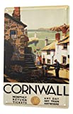 Blechschild Welt Reise Cornwall