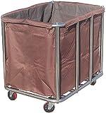 Abbigliamento di smistamento della spesa Lavanderia Sorter carrello Heavy Duty rotolamento commerciale on Wheels, acciaio inossidabile di pulizia del collettore Servizio Carrello con il sacchetto rimo