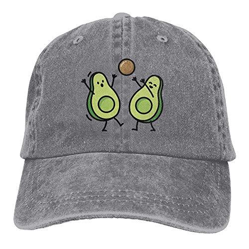 Two Green Funny Avocado Play Ball Denim Hat Adjustable Baseball ()