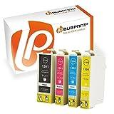 Bubprint 4 Druckerpatronen kompatibel für Epson T1301 - T1304 für Stylus SX525WD SX535WD SX620FW Office B42WD BX525WD Workforce WF-3520DWF WF-7515