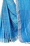 Perfectblue Women's Linen Saree With Blouse Piece (LinenMiinniimumvaariation)