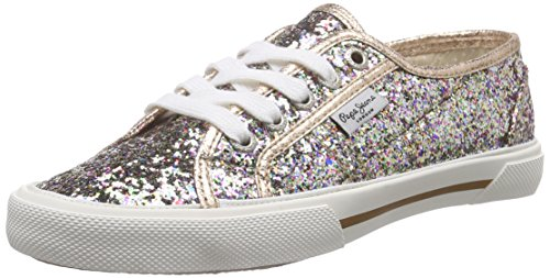 Pepe Jeans ABERLADY GLITTER PARTY Sneakers Donna, Multicolore (116SHERBERT), 39