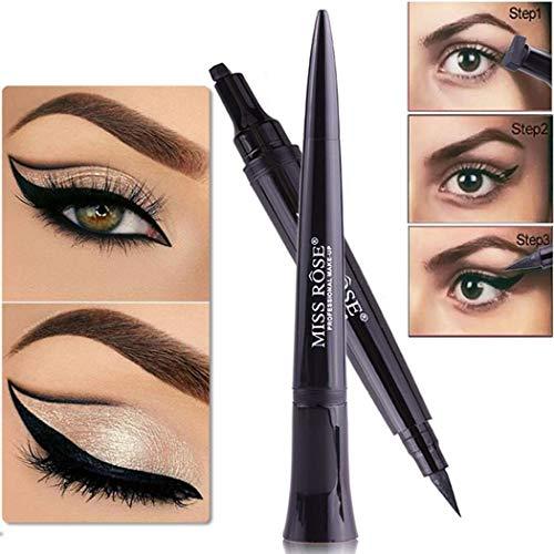 Algern Tragbarer wasserdichter langlebiger Augen-Make-up-Kugelkopf-Eyeliner-Bleistift Eyeliner -