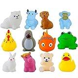 #8: Kids Choice Chu chu Bath toys Set of 12, Multi-color