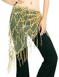 bf58b9fffb75 Reefa Ceinture Jupe Costume Tenue Foulard Robe Danse Orientale pour  Femme-Longueur  145cm