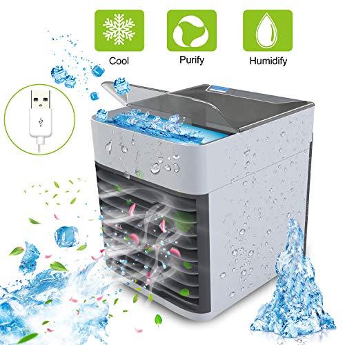 Mobiles Klimageräte  Klimaanlage Wohnung 4 in 1 Luftkühler   3 Windkraft  7 Farben,Schwarz