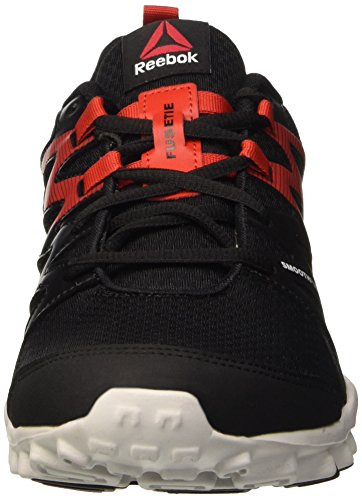 Reebok Realflex Train 4.0, Scarpe Sportive Indoor Uomo Nero (Black/Motor Red/Skull Grey)
