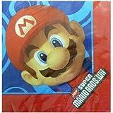 16 serviettes de table en papier Super Mario Bros