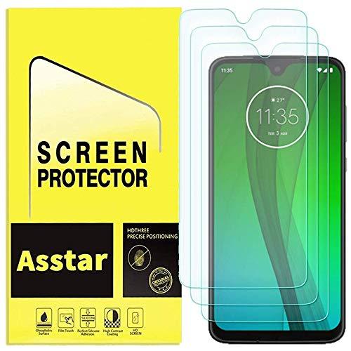 Displayschutzfolie für Motorola Moto G7 / Moto G7 Plus, gehärtetes Glas, Kratzfest, blasenfrei, [hüllenfreundlich], 9H Härte, High Definition, lebenslanger Ersatz [3 Stück]