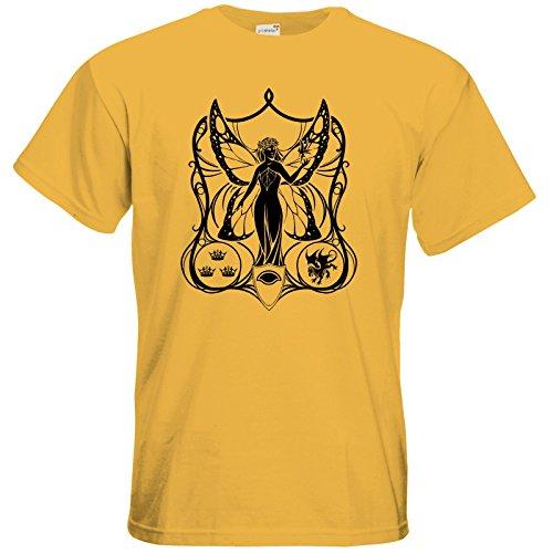 getshirts - Das Schwarze Auge - T-Shirt - Die Siebenwindküste - Coversymbol Gold