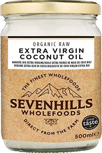 Sevenhills Wholefoods Aceite De Coco Virgen Extra Orgánico, Crudo, Prensado En Frío 500ml