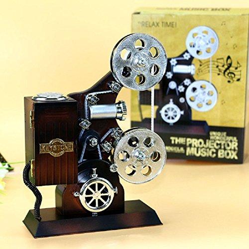 Preisvergleich Produktbild XJoel kreative Retro Weinlese-alte Harz-Film-Projektor-Verzierungs-Spieluhr für Hauptstab-Dekoration-Schreibtisch-Organisator-Dekoration-Zusätze