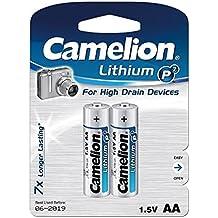 Camelion FR6-BP2 - Batería/Pila  (2900 mAh, Universal, Litio, 50.5 mm, 14.1 mm, 14.5 g) Plata
