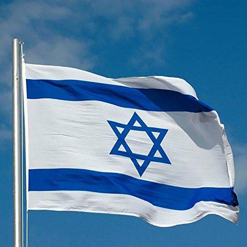 Israel Fahne 90 X 150cm, Moresave WM-Flaggen 2018 Polyester Wetterfeste Mehrfarbige Flaggen -