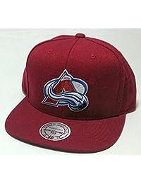 Mitchell & Ness Colorado Avalanche Solid 2 Snapback NBA Cap Kappe Basecap Herren