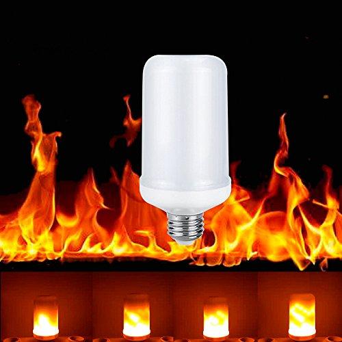 (Flamme Lampe, Wollpo 3 modus Flamme Effekt Led Wahre Feuer Farbe Glühbirne E27 Leuchtmittel LED Bulb Kreative Lichter Dekorative Leuchte für Weihnachten, Halloween, Festival, Party, Hause, Garten (Kurz 65 x 150 mm))