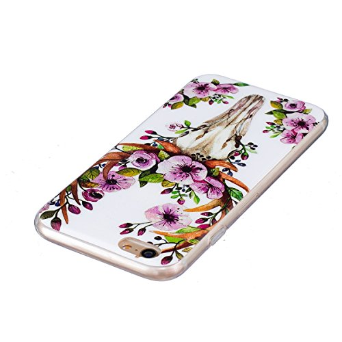 Coque Housse pour iPhone 6 Plus/6S Plus, iPhone 6S Plus Coque Silicone Ultra Mince Etui Combo Housse, iPhone 6 Plus TPU Coque Soft Etui en Silicone,iPhone 6 Plus/6S Plus Silicone Transparent Case TPU  Noctilucent-Cerf