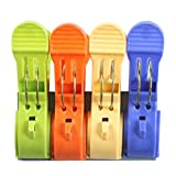 NaPuDt Beach Towel Clips, Durable Plastic Secure Clips Jumbo Size Hanging Clamps for Swimsuits Quilt Clothes
