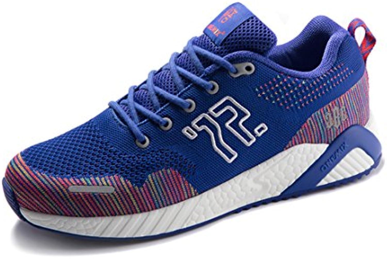 onemix Herren Laufschuhe   Reflective Leder Outdoor Sport Casual Schuhe 1238 Blue 43