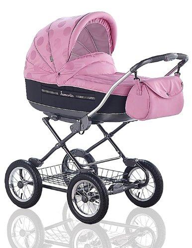 """Kinderwagen Roan """"Marita"""" in Design SCHWARZ-PINK-DEKOR (Fb. S-109) - inklusive passendem Sportsitz und Sonnenschirm - weitere 41 Farbdesigns bei uns erhältlich"""