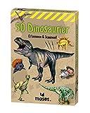 moses. 40212 Expedition Natur-50 Dinosaurier | Bestimmungskarten im Set | Mit spannenden Quizfragen, bunt