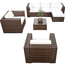 XXL Polyrattan Lounge Möbel Set Für Balkon Und Terrase Erweiterbar    Polyrattan Lounge XXL   Braun Mix U2013 Gartenmöbel Sitzgruppe Lounge Eck  Garnitur Möbel ...