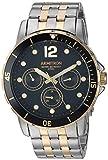 Armitron Men's 20/5277BKTT Multi-Function Dial Two-Tone Bracelet Watch