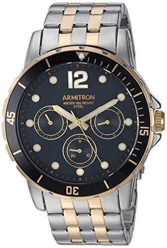 Armitron Men's 20/5277BKTT Multi-Function Dial Two-Tone Bracelet Watch image