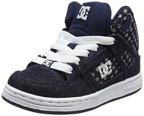 DC Shoes Rebound TX SE, Mädchen Sneaker, Blau (Denim), 33 EU (1 UK) (Schuhe Denim-blau Kinder)
